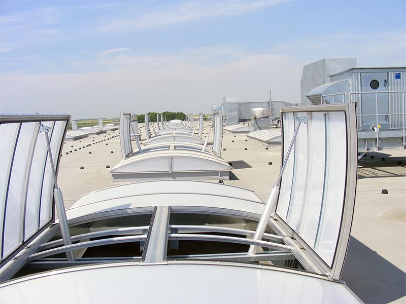 Dachowe pasma świetlne